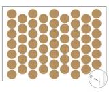 Самозалепващи тапи - едноцветен бук
