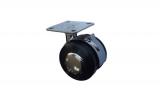 Колелце с планка и стопер ф50 h-67 mm. метално