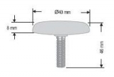 ПВЦ тапа за конектор ф40 М10